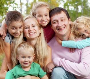 В семье четыре ребенка