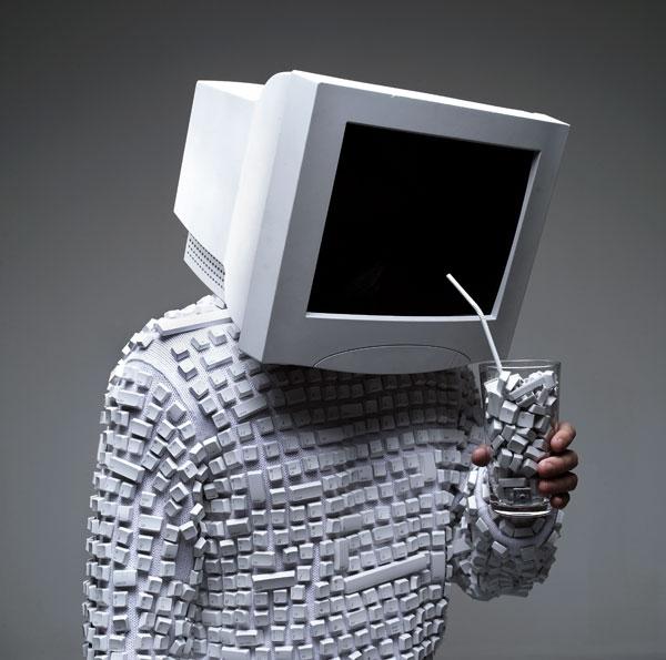 фото компьютер и человек