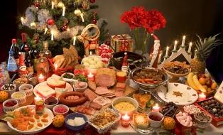 Праздничный стол на Рождество